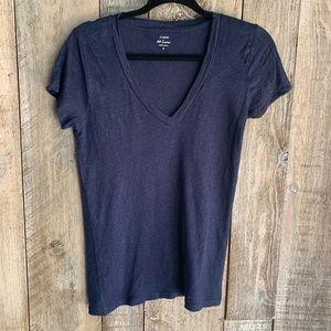 J. Crew 100% Linen Basic V- Neck Tshirt